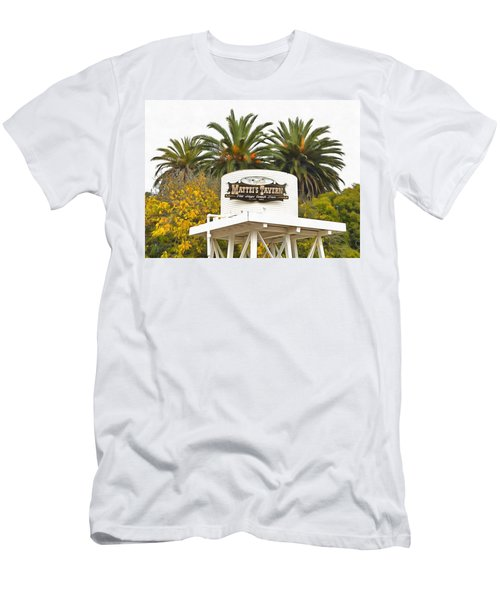 Men's T-Shirt (Slim Fit) featuring the photograph Matties Tavern Los Olivos California by Floyd Snyder