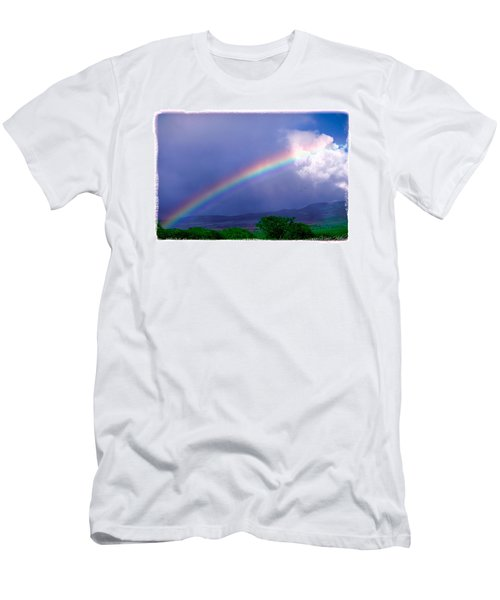 Men's T-Shirt (Slim Fit) featuring the photograph Maui Rainbow by Marie Hicks