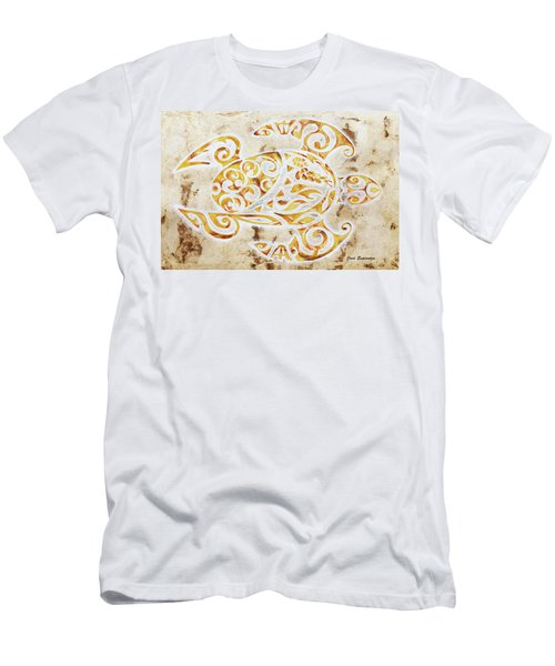 Men's T-Shirt (Slim Fit) featuring the painting Mayan Turtle by J- J- Espinoza