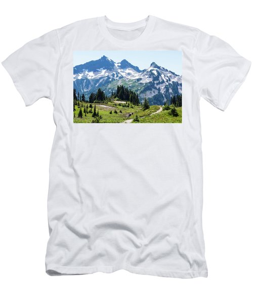 Mazama Ridge And Tatoosh Range Men's T-Shirt (Athletic Fit)