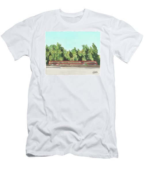 Men's T-Shirt (Athletic Fit) featuring the painting Mcas Miramar Welcome by Betsy Hackett