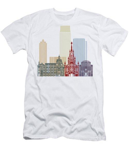 Medellin Skyline In Poster Men's T-Shirt (Athletic Fit)
