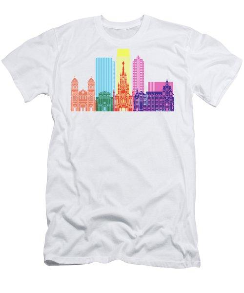 Medellin Skyline Pop Men's T-Shirt (Athletic Fit)