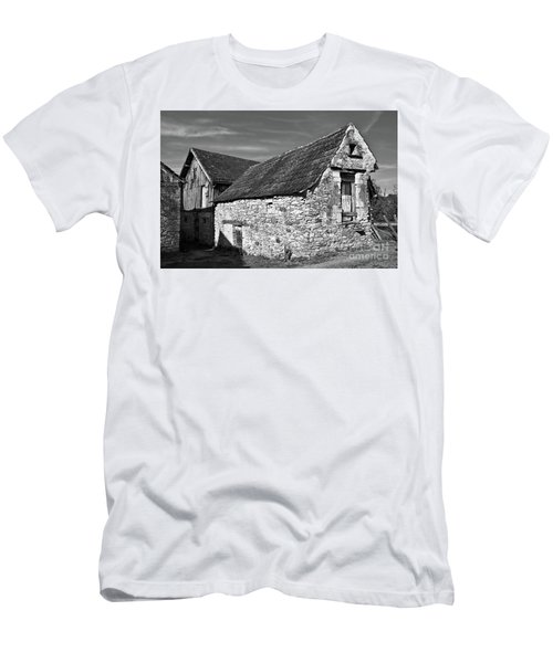 Men's T-Shirt (Athletic Fit) featuring the photograph Medieval Country House Sound by Silva Wischeropp