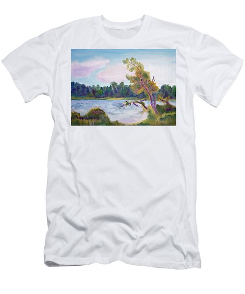 Meditation Lake  Men's T-Shirt (Athletic Fit)