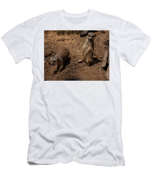 Men's T-Shirt (Athletic Fit) featuring the photograph Meerkats by Chris Flees