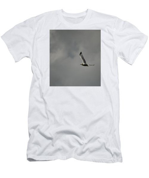 Men's T-Shirt (Slim Fit) featuring the photograph Meet Me On The Other Side by Ramona Whiteaker