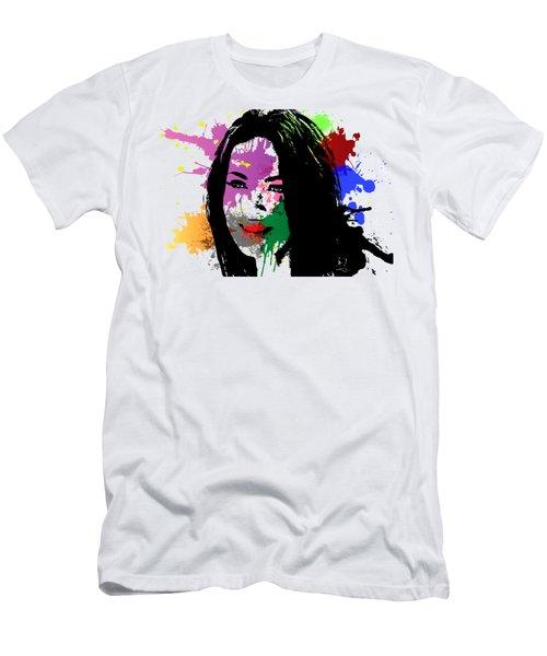 Megan Fox Pop Art Men's T-Shirt (Athletic Fit)
