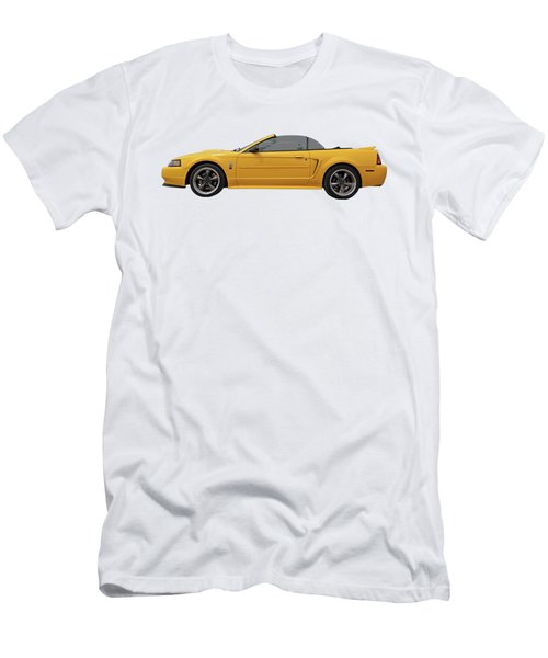 Men's T-Shirt (Slim Fit) featuring the photograph Mellow Yellow 1999 Mustang  by Gill Billington