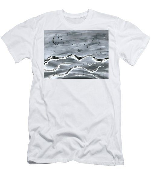 Melody Men's T-Shirt (Slim Fit) by Kenneth Clarke