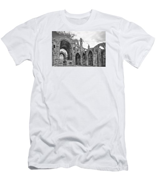 Melrose Abbey Men's T-Shirt (Slim Fit) by Elvira Butler