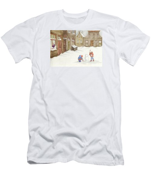Men's T-Shirt (Slim Fit) featuring the painting Memories........... by Annemeet Hasidi- van der Leij
