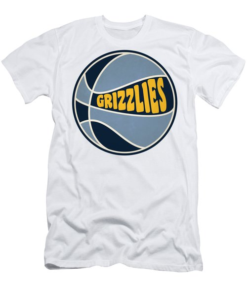 Memphis Grizzlies Retro Shirt Men's T-Shirt (Slim Fit) by Joe Hamilton