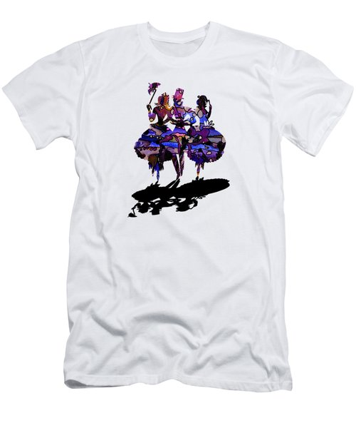 Menage A Trois On Transparent Background Men's T-Shirt (Slim Fit) by Barbara St Jean