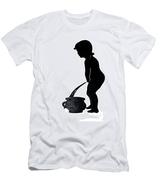 Mens Room Sign Silhouette Men's T-Shirt (Slim Fit) by Sally Weigand