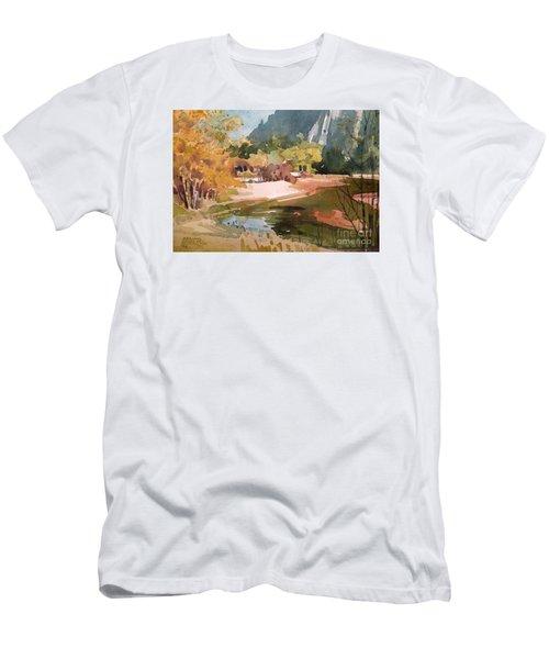 Merced River Encounter Men's T-Shirt (Slim Fit) by Donald Maier