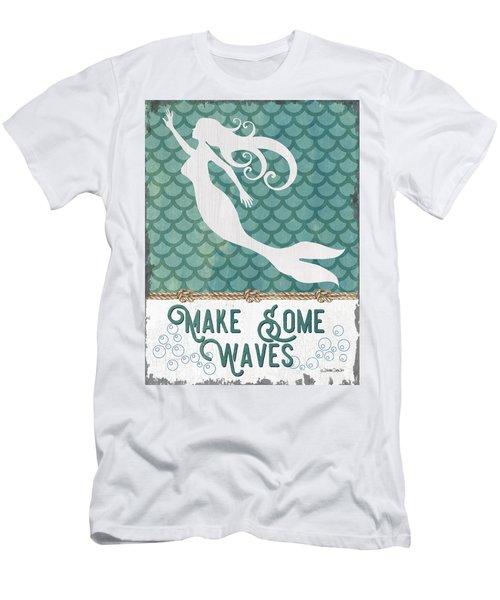 Mermaid Waves 1 Men's T-Shirt (Athletic Fit)
