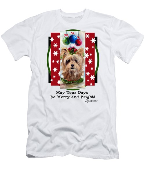 Merry And Bright Men's T-Shirt (Athletic Fit)