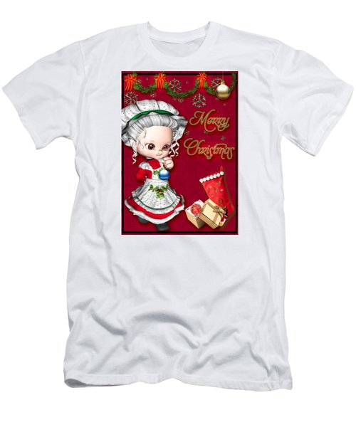 Merry Christmas Men's T-Shirt (Slim Fit) by Paula Ayers
