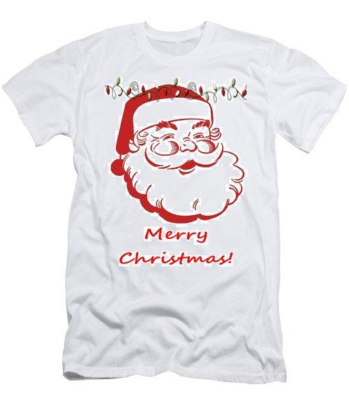 Merry Christmas Santa Claus Vertical Men's T-Shirt (Athletic Fit)