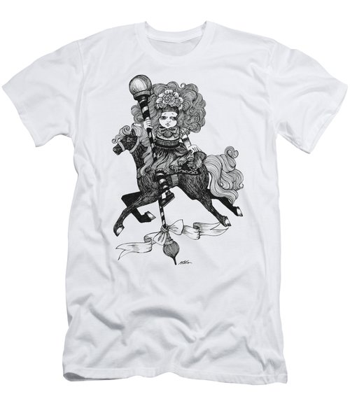 Merry-go-round Girl Men's T-Shirt (Slim Fit) by Akiko Okabe