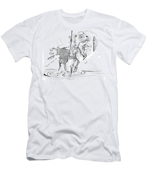 Merry-go-round Horse Men's T-Shirt (Athletic Fit)