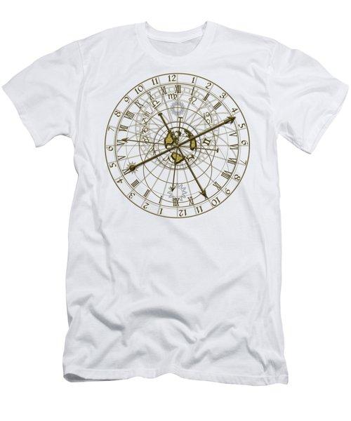Metal Astronomical Clock Men's T-Shirt (Slim Fit) by Michal Boubin
