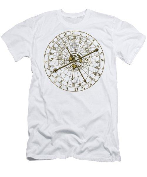 Metal Astronomical Clock Men's T-Shirt (Athletic Fit)