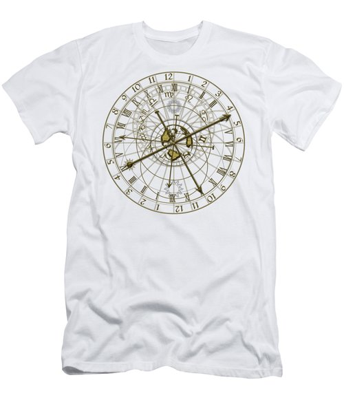 Metal Astronomical Clock Men's T-Shirt (Athletic Fit)