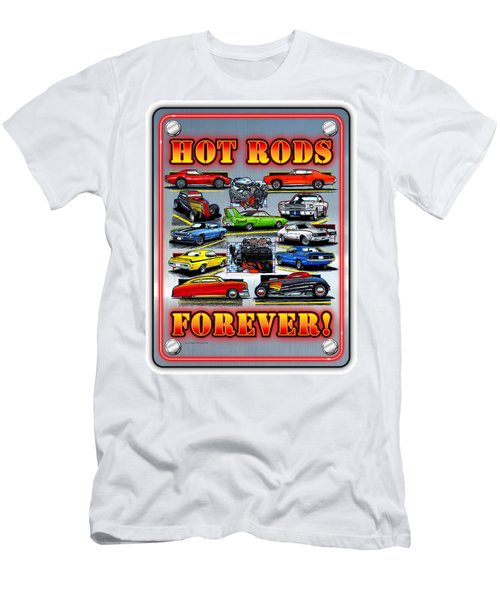 Metal Hot Rods Forever Men's T-Shirt (Athletic Fit)