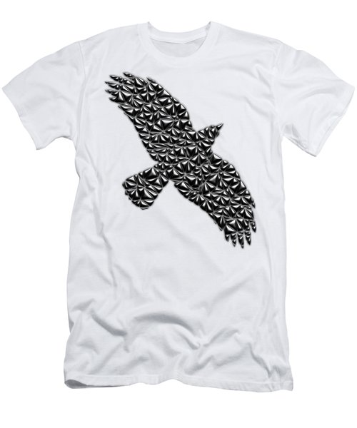 Metallic Crow Men's T-Shirt (Athletic Fit)