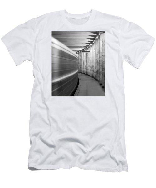 Metro #0110 Men's T-Shirt (Slim Fit) by Andrey Godyaykin