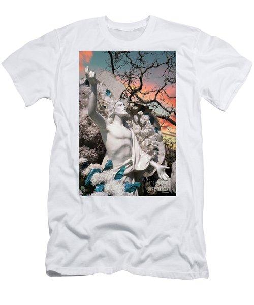 Mexico Cemetery Sculpture Photograph - Resurrection T Dawn Men's T-Shirt (Athletic Fit)