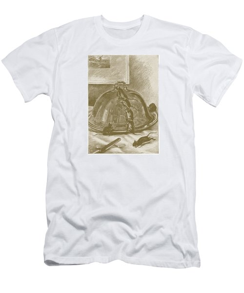 Men's T-Shirt (Slim Fit) featuring the drawing Mice Have It Covered by David Davies
