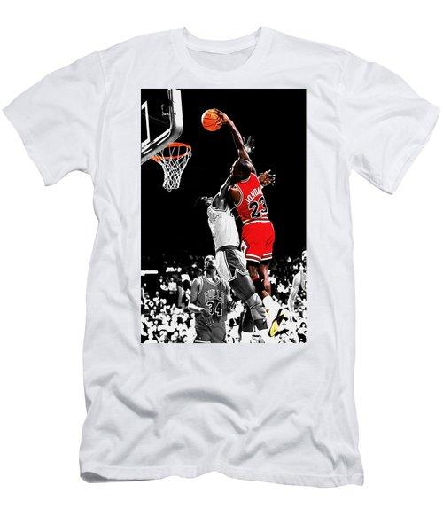 Michael Jordan Power Slam Men's T-Shirt (Athletic Fit)