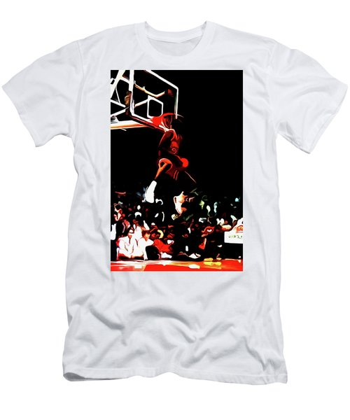 2d08361ea653dc Michael Jordan Reverse Slam Dunk 2 Men s T-Shirt (Athletic Fit)