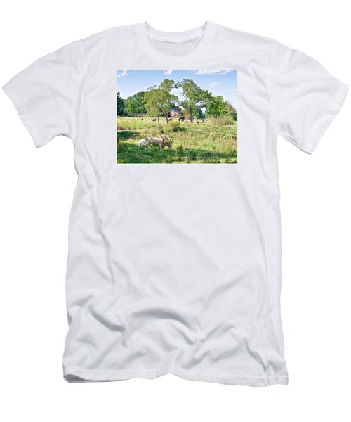 Midwest Cattle Ranch Men's T-Shirt (Athletic Fit)