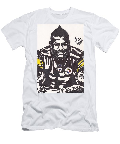 Men's T-Shirt (Slim Fit) featuring the drawing Mike Wallace 1 by Jeremiah Colley