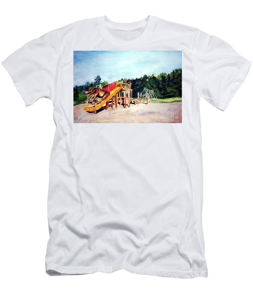 Mildred Goes Down The Slide Men's T-Shirt (Athletic Fit)
