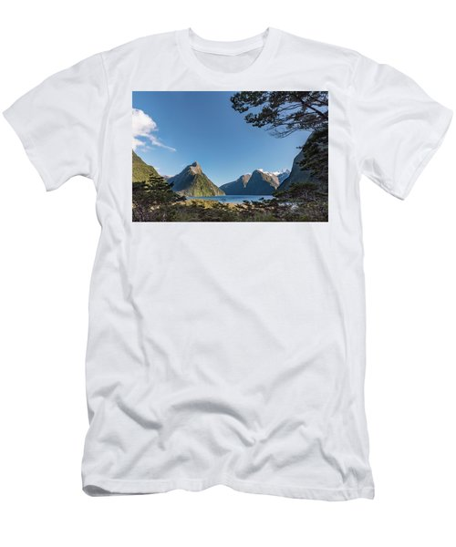 Men's T-Shirt (Athletic Fit) featuring the photograph Milford Sound Overlook by Gary Eason