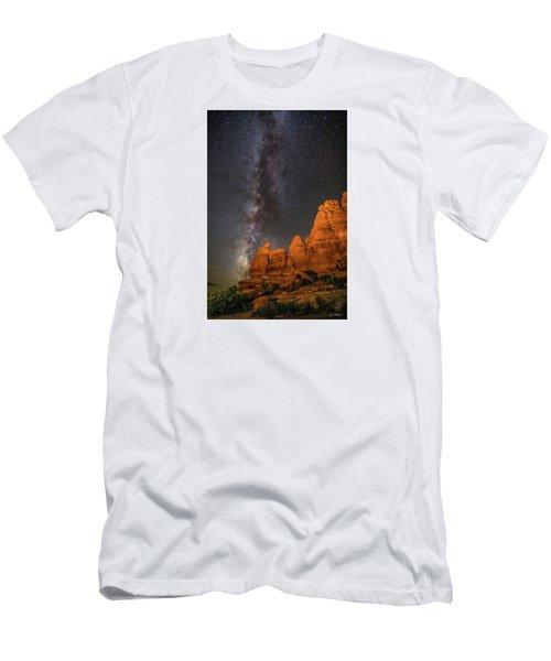 Milky Way And Navajo Rocks Men's T-Shirt (Athletic Fit)