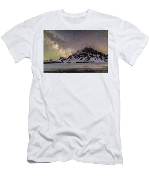 Milky Way Over Crowfoot Mountain Men's T-Shirt (Athletic Fit)
