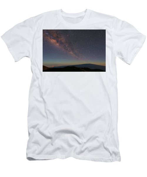 Milky Way Over Mauna Loa Men's T-Shirt (Athletic Fit)