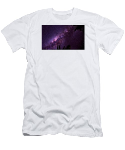 Men's T-Shirt (Slim Fit) featuring the photograph Milky Way Over Mission Beach Narrow by Avian Resources