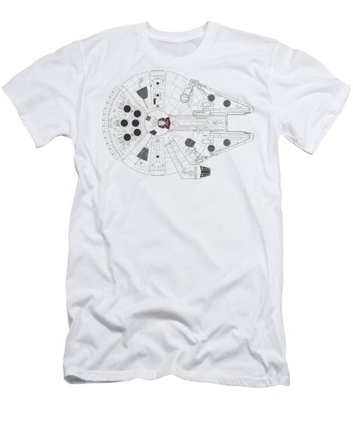 Millennium Falcon I Men's T-Shirt (Athletic Fit)