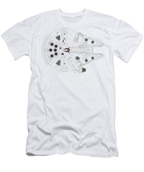 Millennium Falcon I Men's T-Shirt (Athletic Fit)