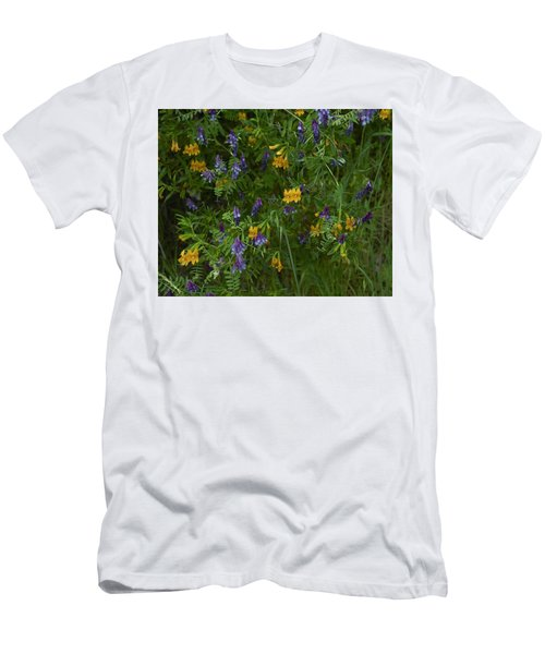 Men's T-Shirt (Slim Fit) featuring the photograph Mimulus And Vetch by Doug Herr
