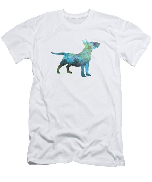 Miniature Bull Terrier In Watercolor Men's T-Shirt (Athletic Fit)