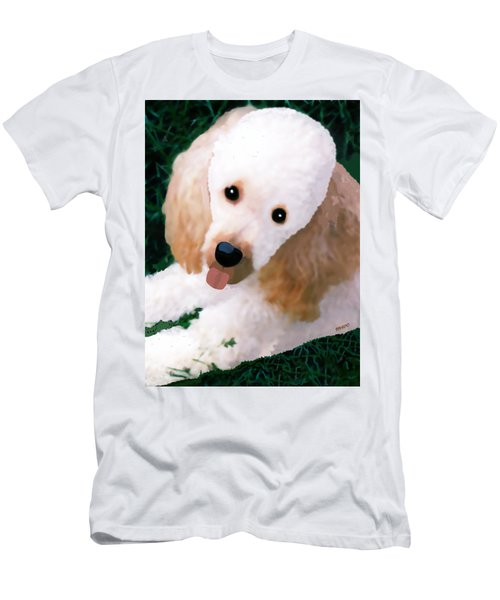 Miniature Poodle Albie Men's T-Shirt (Athletic Fit)