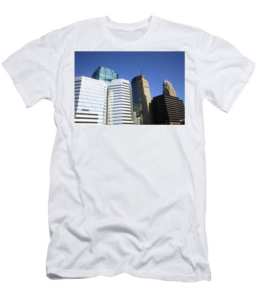 Men's T-Shirt (Slim Fit) featuring the photograph Minneapolis Skyscrapers 11 by Frank Romeo